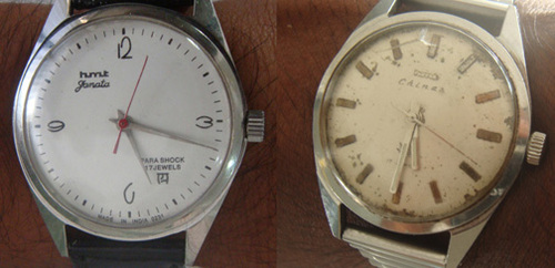 1970 edition HMT manual watches
